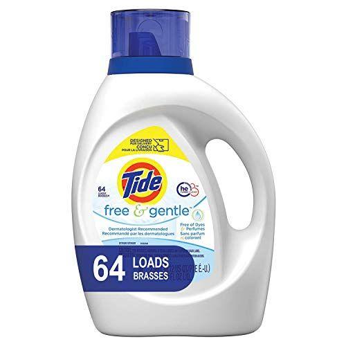 Tide Free And Gentle Liquid Laundry Detergent 100 Oz U Https Www Amazon Com Dp B07f46cbgv Gentle Laundry Detergent Tide Free And Gentle Laundry Liquid