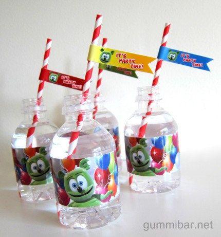 Gummibär The Gummy Bear Straw Flags Sheet of 24 Birthday Party
