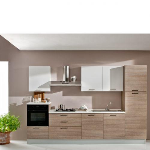 SCACCO cucina completa dx anta laminato rovere grigio Materiale/i ...