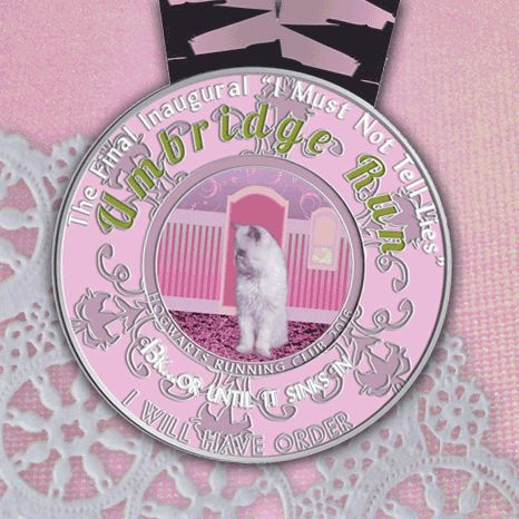 The Umbridge 13k from Hogwarts Running Club. Who's ready to race?