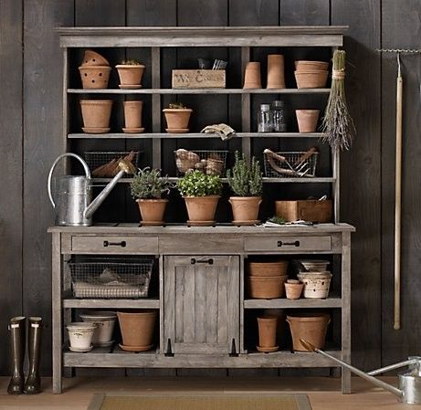 Inspire Bohemia: Garden Potting Benches, Sinks and Tools