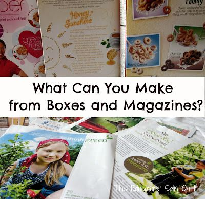 Learn how to create Eco Friendly Photo Blocks with your children from cereal boxes and old magazines.  What can you make from recycled items?: