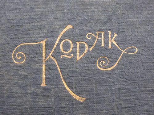 Vintage Kodak logo - gold foil