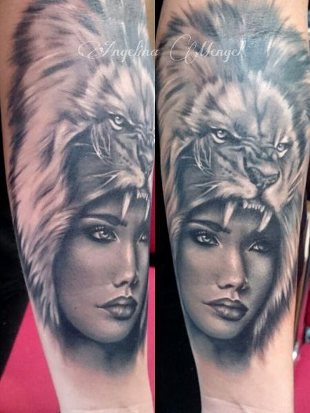Tattoo-Foto: Löwenkopf Tattoo