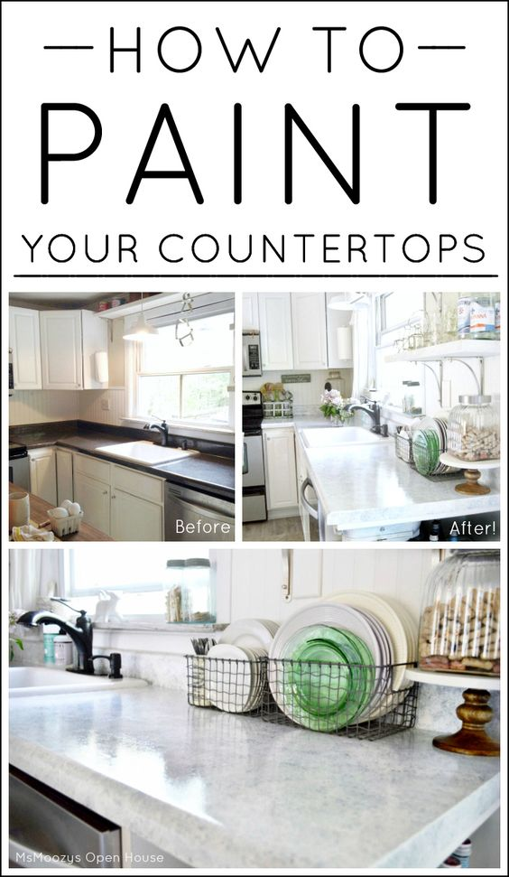 Countertops wire baskets and house on pinterest for Cheap kitchen makeover ideas uk