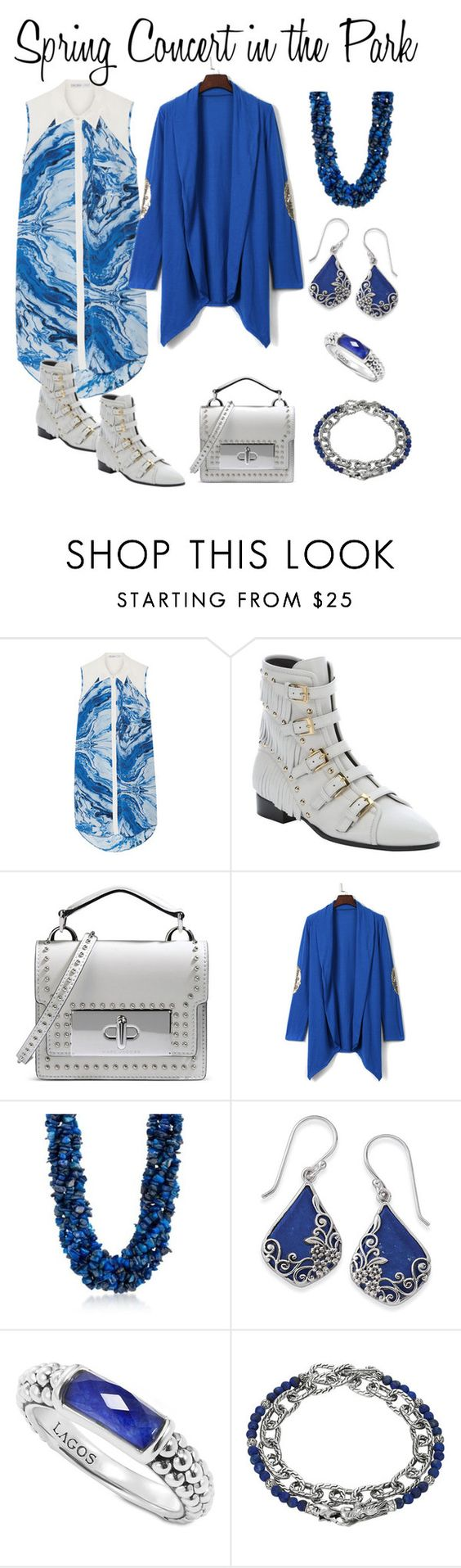 """""""Spring Concert in the Park"""" by karen-galves on Polyvore featuring Chelsea Flower, Giuseppe Zanotti, Marc Jacobs, WithChic, Ross-Simons, Natures Jewelry, Lagos and John Hardy"""