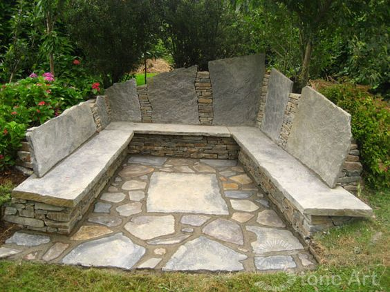 Traumdusche Bauen : Stones, Fire pits and Seating areas on Pinterest