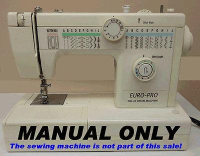 Euro-Pro-Delux-Denim-Machine-Manual-Model-1262-