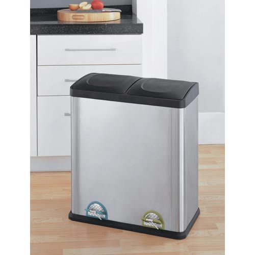 Two Section Recycle Bin, 30w x 34h x 13d