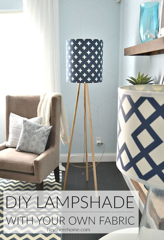 Diy Drum Shade With My Own Fabric Shades And Diy Lampshade