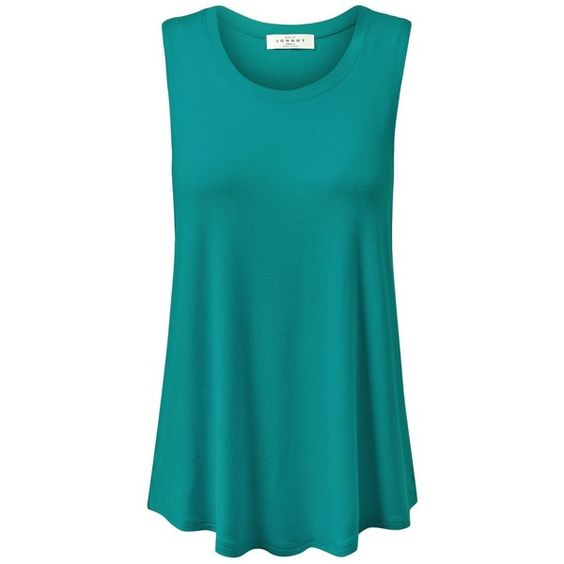 MBJ Womens Basic Loose Fit Tank Top ($11) ❤ liked on Polyvore featuring tops, loose fit tops, blue tank, blue tank top, loose fit tank tops and loose tank