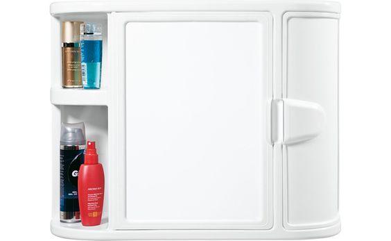 Este es el candidato No. 1 para gabinete de nuestro nuevo baño, es plástico (fácil limpieza), tiene varios compartimientos y espejo. Mide 60 cm. de ancho x 46 cm. de alto y 19 cm. de fondo. Su material y presentación hacen juego con los dispensadores. En Colombia lo conseguimos en http://articulo.mercadolibre.com.co/MCO-21929177-gabinete-plastico-con-espejo-para-el-bano-_JM a muy buen precio.