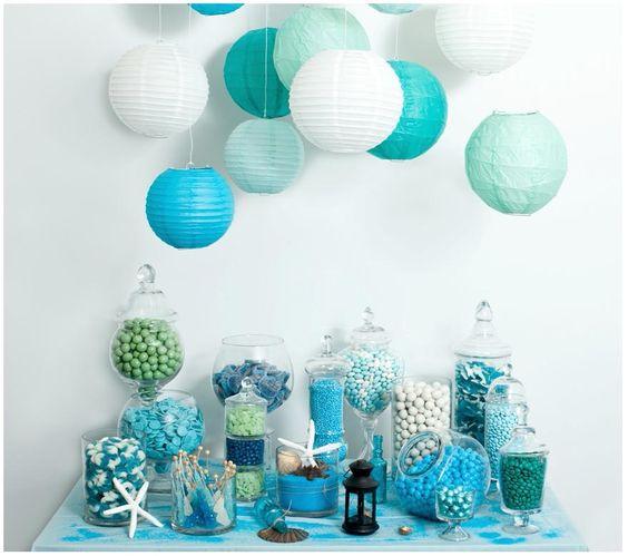 Seashell/Ocean Inspired Candy Buffet