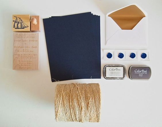 DIY Nautical Wedding Invitations. Click to see what you need.