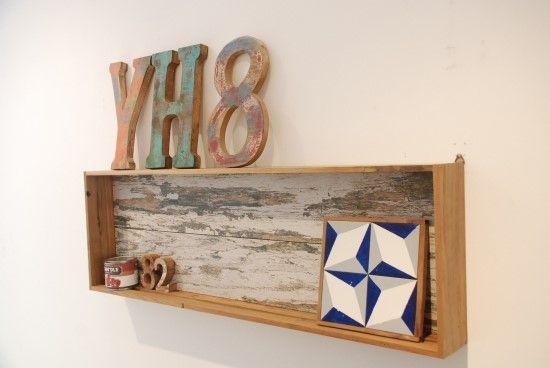 Younhyun DIY Shelf made by Old Navy Tile , Font Tile / 윤현상재 올드 네이비 타일 (핸드메이드 선반) , 폰트 타일