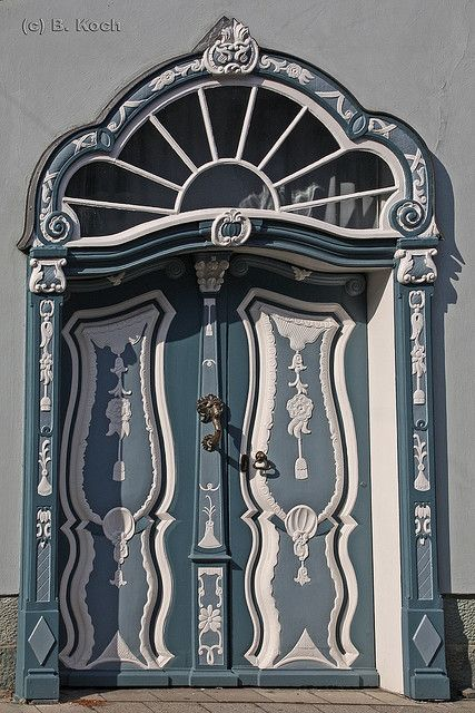 These are the entrance doors to a grand patrician villa, built in 1656, that houses a museum in Germany.