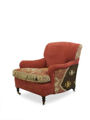 One-of-a-Kind Red Kilim Club Chair by Tiger Lily on Gilt Home