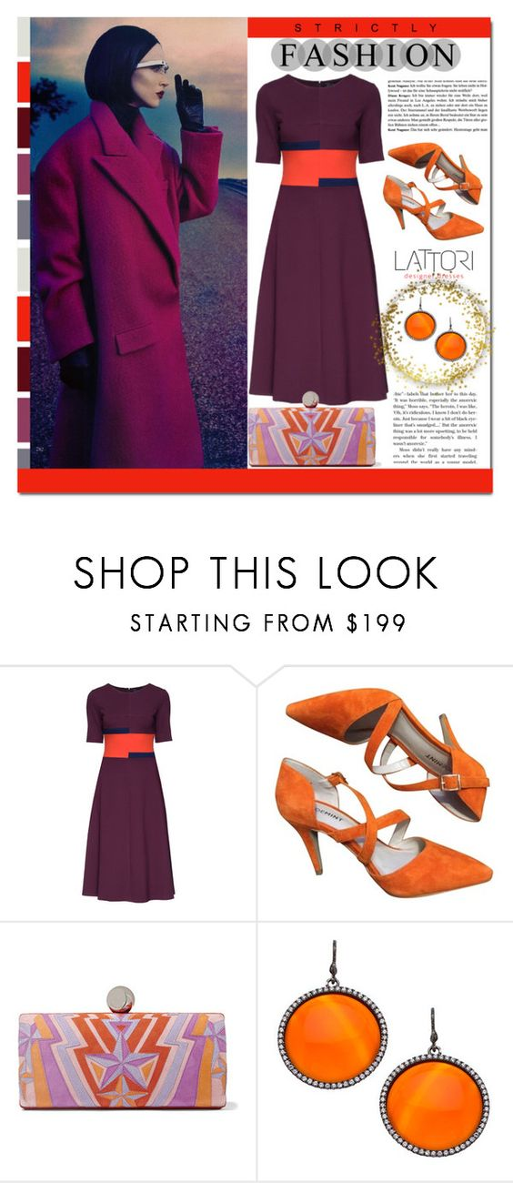 """""""Lattori Dress #30"""" by cherry-bh ❤ liked on Polyvore featuring Lattori, Emilio Pucci, Madison Precious Jewels, women's clothing, women, female, woman, misses, juniors and dress"""