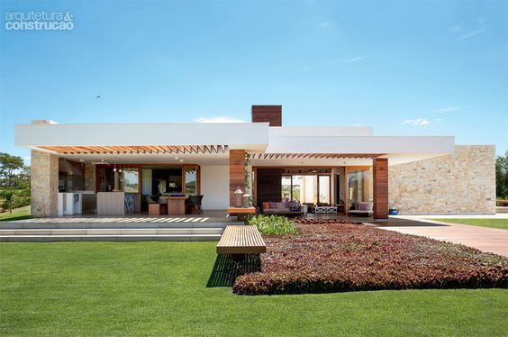 50 fachadas de casas de sonho publicadas na arquitetura for Fachadas de casas e interiores