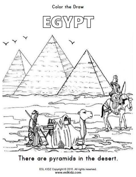 Egypt Coloring Page Coloring Pages Pyramids Egypt