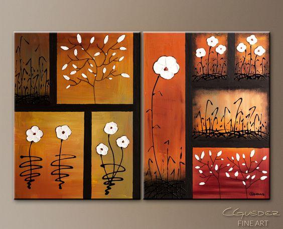 """""""Spring Garden"""" – 36"""" x 24"""" – Oil and Acrylic"""