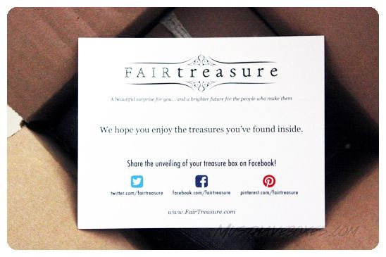 May 2014 Fair Treasure Box WorldFinds Sterling Silver Earrings - invitation unveiling