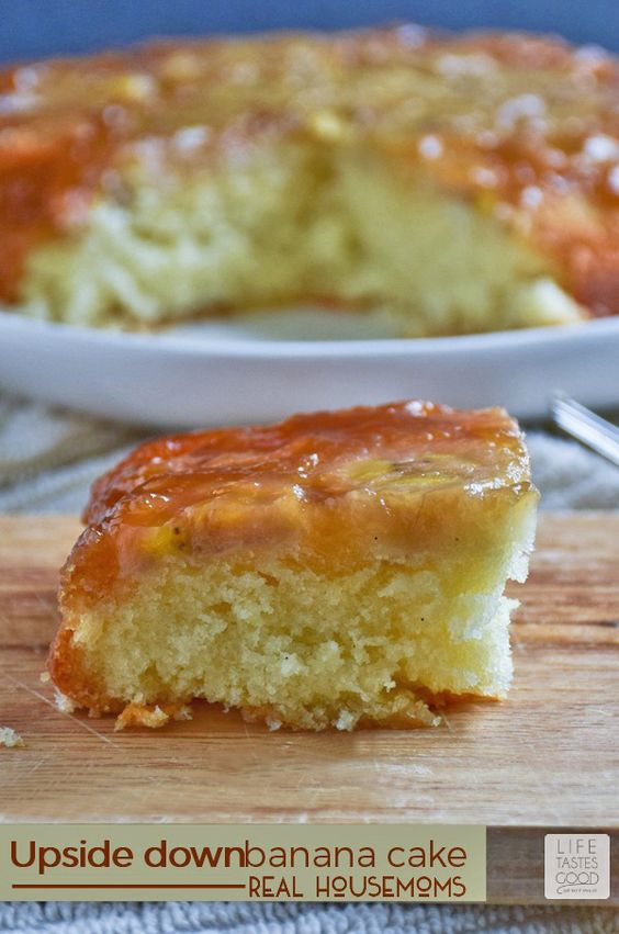 Upside Down Banana Cake | Recipe | Banana Cakes, Bananas and Cakes