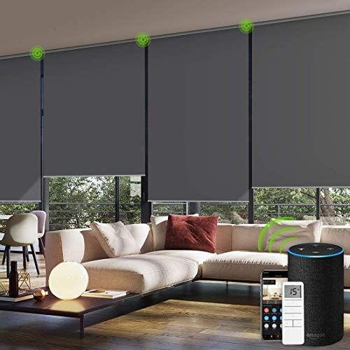 New Yoolax Motorized Window Roller Shades Blinds Wireless Remote