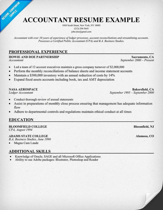 Accountant Resume Sample Resume Samples Across All Industries - junior accountant resume