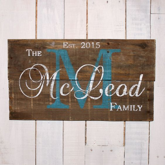 Family Name Sign, Established Sign, Pallet Last Name Wood Sign, Rustic Family Established Sign, Personalized Wedding Gift, Anniversary Gift