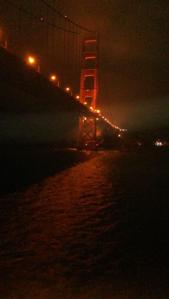 Going under Golden Gate Bridge , San Francisco