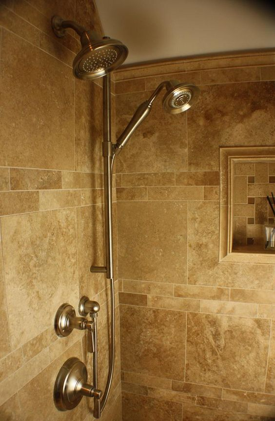 Hand held shower w shower head nice set would install the - Bathroom partition installers near me ...