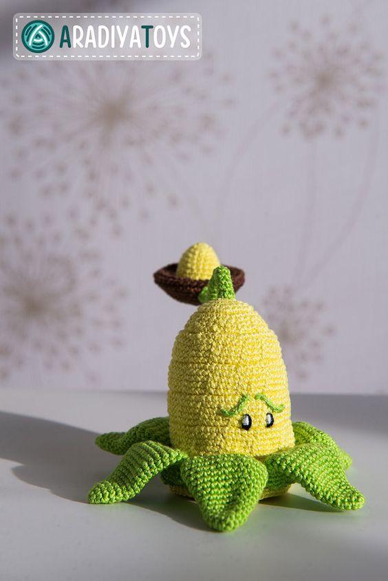 Crochet Pattern of Kernel-pult from Plants vs Zombies von Aradiya