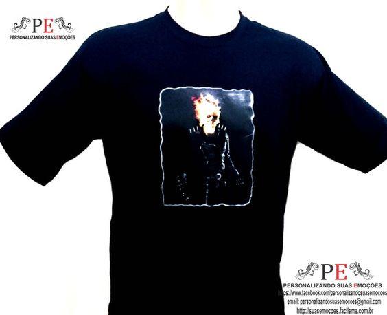 Camisetas 100% algodão, com o tema do filme motoqueiro fantasma, vários tamanhos e cores, peça já a sua, entrega rápida.  Camiseta é um presente barato e todo mundo gosta de ganhar.  Whatsapp: 15 981600601 R$ 35,00