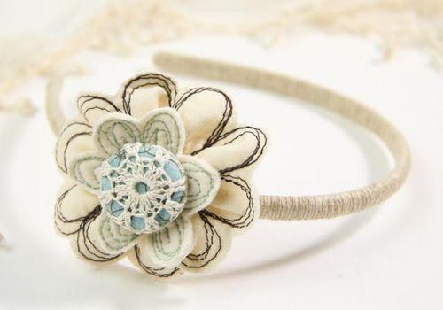 flower headband DIY