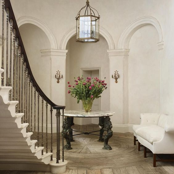 Magnificent entry in 19th century classical home. Rose Uniacke's Classic Designed Minimal Home.