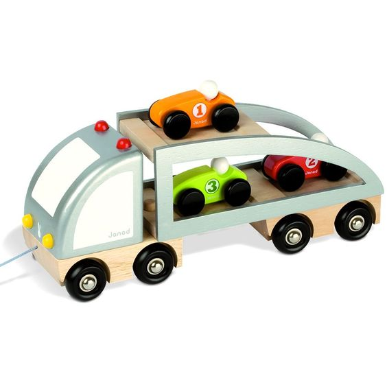 Toy Race Trucks : Car carrier pull toy and trucks on pinterest
