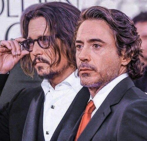 Johnny Depp and Robert Downey Jr | Johnny depp, Johnny, Robert downey jr