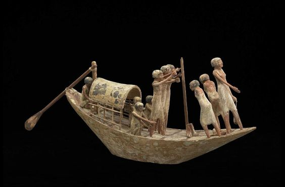 Model of a transport boat with portable cabin Middle Kingdom, Dynasty 11-early Dynasty, 2010-1961 B.C.