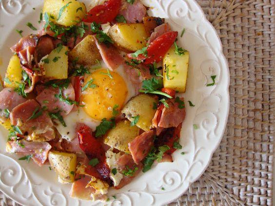 As Minhas Receitas: TOP 5 - #9 Batatas com Fiambre e Ovo