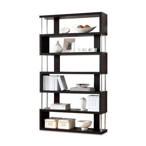 Javier modern 6 shelf zig zag display shelving bookcase - Etagere zig zag ...