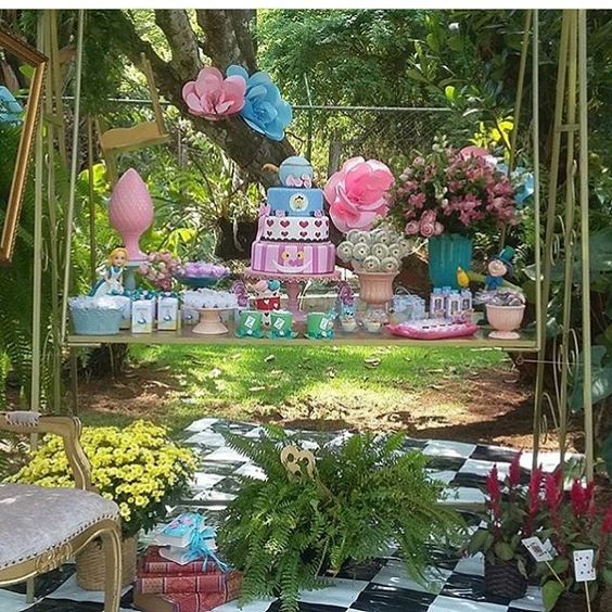 Festa Alice. Por @espacodunamis #blogencontrandoideias #encontrandoideias #fabiolateles