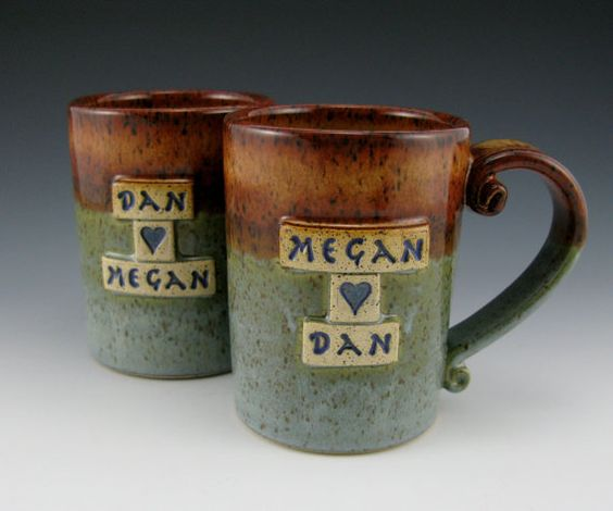 I have a growing pottery obsession and these personalized mugs are not helping!
