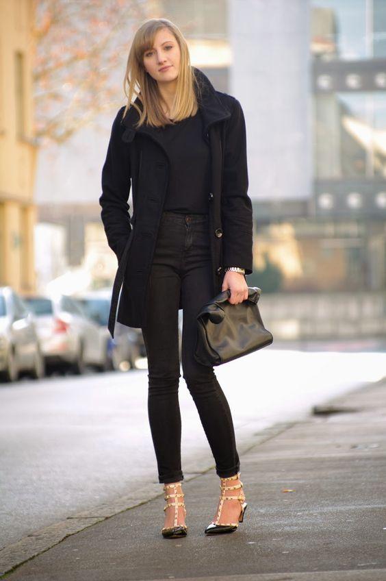 all black outfit valentino rockstud lookalikes replica ebay