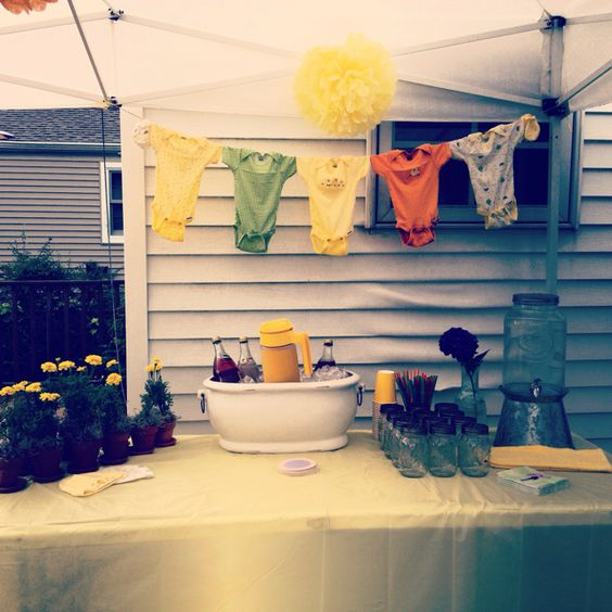 baby shower decorations a line showers onesies babies baby showers