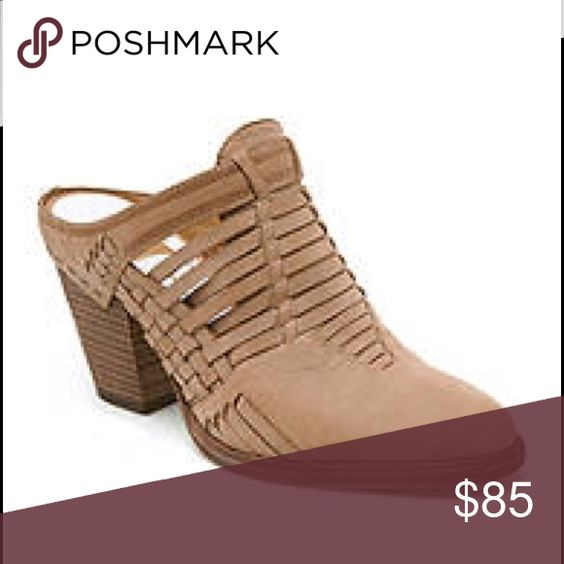 Dolce Vita Heeley Weave Mule Never been worn, eye-catching mules that are perfect for transitioning from warm summer months to cool fall days! Dolce Vita Shoes Mules & Clogs