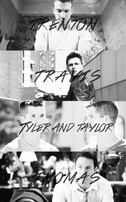 Trenton, Travis, Tyler and Taylor, Thomas (Yes!)     (Yes!(   (Double yes!)      (No! Stephen                                                             Amell!)