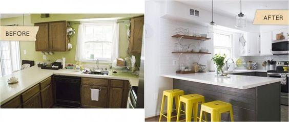 El antes y después de una cocina - Contenido seleccionado con la ayuda de http://r4s.to/r4s