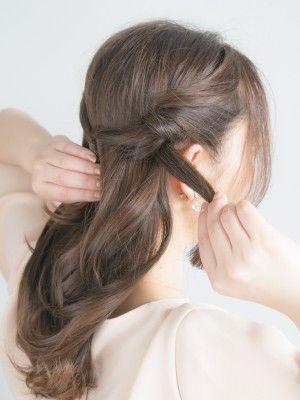40代のまとめ髪に 大人アップヘアの簡単ヘアアレンジ 簡単ヘア 40
