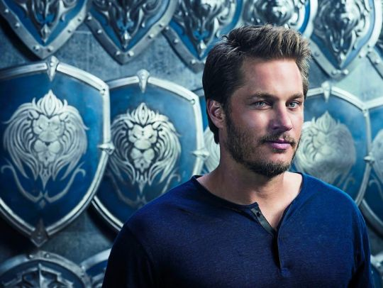Travis Fimmel promotional photo and training for Warcraft
